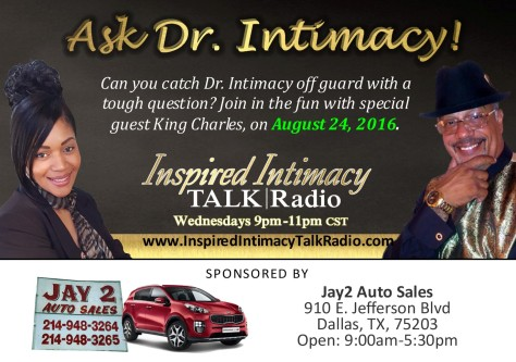 Ask Dr. Intimacy with King Charles with sponsor